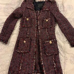 ZARA fringe coat/duster